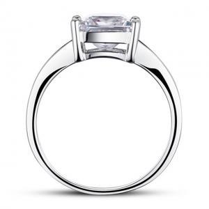 Inel Borealy Argint 925 Simulated Diamond Zirconiu Princess Marimea 63
