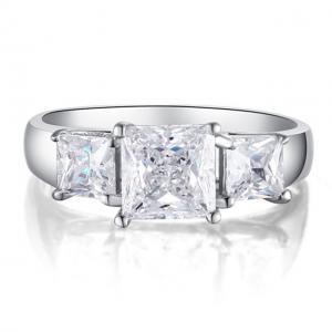Inel Borealy Argint 925 Simulated Diamond Princess Marimea 75