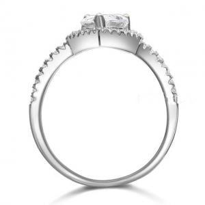 Inel Borealy Argint 925 Simulated Diamond Pear Silver Marimea 72