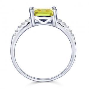 Inel Borealy Argint 925 Created Diamond Princess Yellow Canary Marimea 72