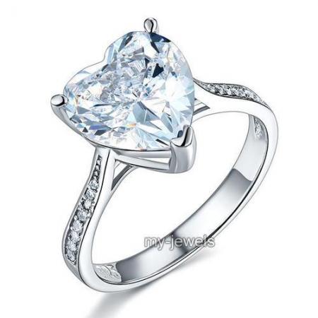 Inel Borealy Argint 925 Precious Crystal Heart, Masura 7 [0]