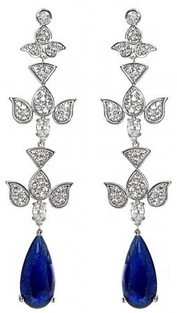 Geantă Poseta Cacharel Iris Bleumarine & Cercei Chandelier Blue Orient2