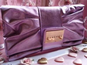 Geanta seara Versace Metalic Lilac Clutch1
