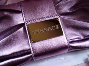 Geanta seara Versace Metalic Lilac Clutch5