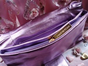 Geanta seara Versace Metalic Lilac Clutch3