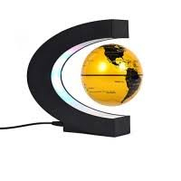 "Glob Pământesc Levitaţie Auriu + CADOU Harta razuibila mare Borealy ""Am fost acolo"" 82 cm x 59 cm Gold Edition Deluxe3"
