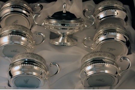 Silver Coffee/ Tea Set for Six by Chinelli - made in Italy2