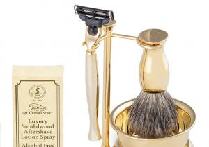 Gold Plated Luxury Shaving Set by Erbe Solingen, made in Germany3