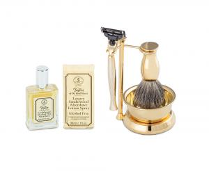 Gold Plated Luxury Shaving Set by Erbe Solingen, made in Germany0