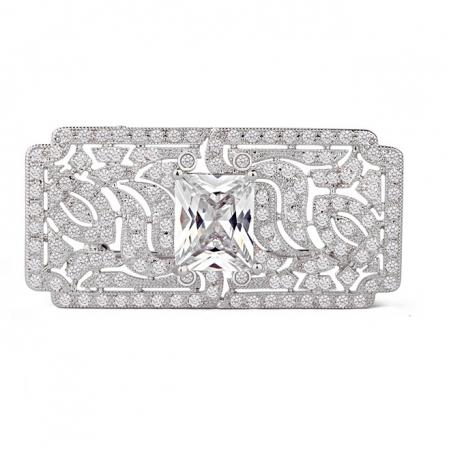 Great Gatsby Luxury Broşă Blue1