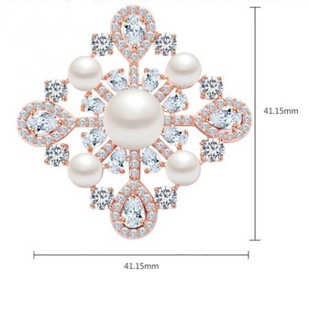 Broşă Trianon Baroque Rose [4]