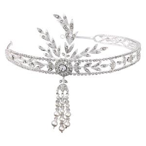Great Gatsby Luxury Tiara Headband0