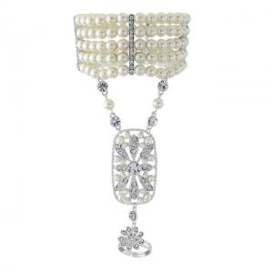 Great Gatsby Pearl Brăţară0