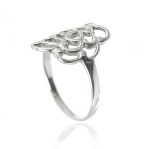 Inel Trandafir Argint 925 by Borealy Marimea 92