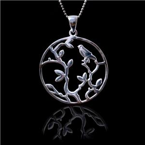 White Nature Silver Medalion by Borealy Argint 9251