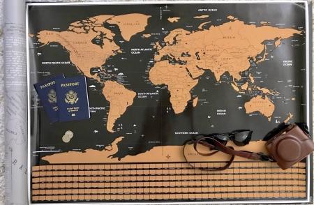 """Harta razuibila Borealy """"Am fost acolo"""" -  varianta mini1"""