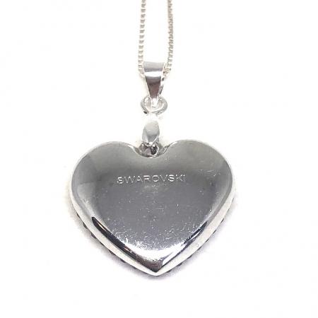 Inima Swarovski Phantasya Pink & Lantisor Argint 9251