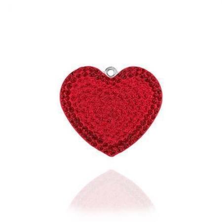 Inima Swarovski Phantasya Red & Lantisor Argint 925 [4]