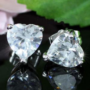 Cercei Borealy Argint 925 Sapphire Heart3