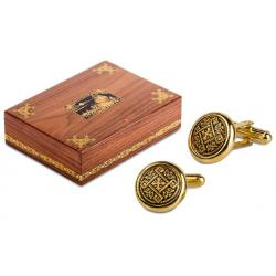 Set Humidor Wiston Churchill by Credan si Butoni Gold Round by Credan