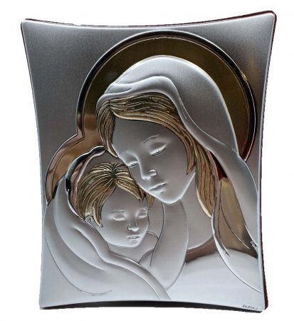 Icoană Maica Domnului si Pruncul, Placata cu Argint si Aur1