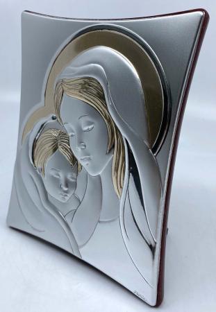 Icoană Maica Domnului si Pruncul, Placata cu Argint si Aur2