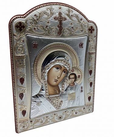 Icoana Fecioara Maria cu Pruncul placata cu aur si argint by Chinelli - Made in Italy 16 x 20 cm [1]