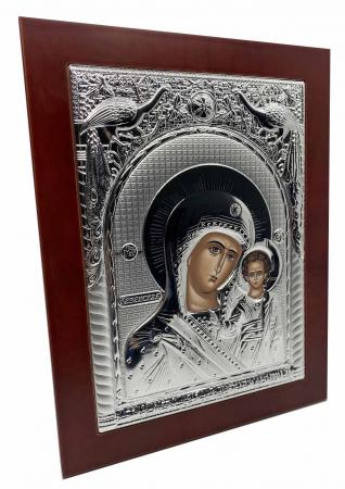 Icoana Mare Fecioara Maria cu Pruncul placata cu argint - Made in Grecia - 31 cm [2]