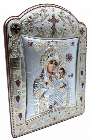 Icoana Fecioara Maria cu Pruncul placata cu aur si argint - 16 x 20 cm1