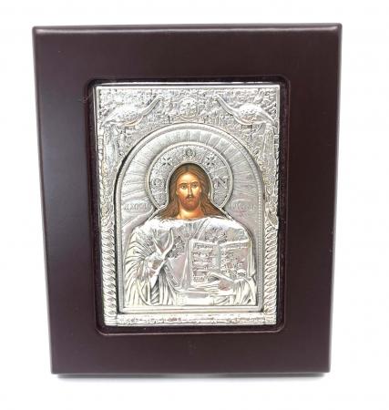 Icoana Iisus Hristos placata cu Argint si Aur