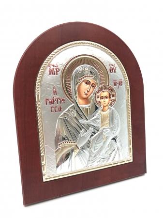 Icoana Maica Domnului si Pruncul placata cu aur si argint1