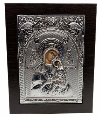 Cadou Paste Icoana Maica Domnului si Pruncul Argint0