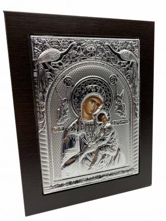 Cadou Paste Icoana Maica Domnului si Pruncul Argint1