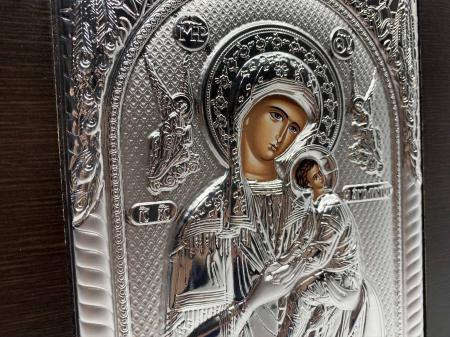 Cadou Paste Icoana Maica Domnului si Pruncul Argint3