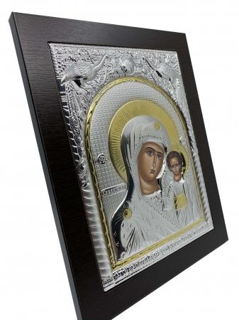 Icoana Maica Domnului si Pruncul Iisus Placata cu Argint si Aur3