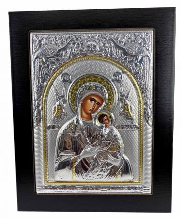 Icoana Maica Domnului si Pruncul Iisus placata cu Argint si Aur [0]