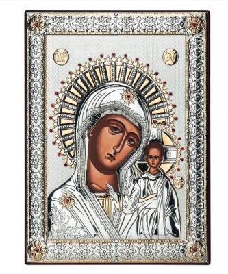 Icoana Maica Domnului placata cu Argint si Aur by Chinelli - made in Italy