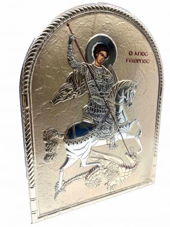 Icoana Sfantul Gheorghe placata cu aur si cu argint Valenti2