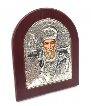 Icoana Sf. Nicolae placata cu aur si argint [2]