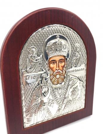Icoana Sf. Nicolae placata cu aur si argint [1]