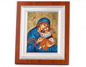 Icoana Maica Domnului si Pruncul Iisus placata cu aur - Credan, made in Spain0