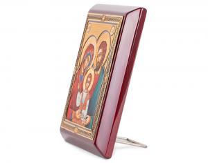 Icoana Sfânta Familie, by Credan placata cu aur - made in Spain2