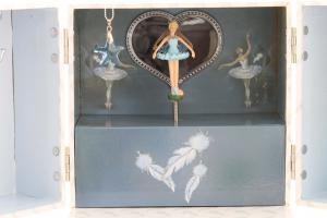 Cutie Muzicală Bijuterii Balerină Bleu&  Pandantiv 20 mm Blue Star1