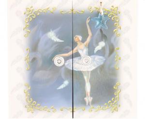 Cutie Muzicală Bijuterii Balerină Bleu&  Pandantiv 20 mm Blue Star3