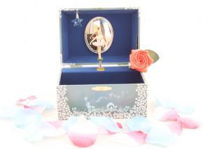 Cutie Bijuterii Muzicală Balerină Albă & Pandativ 18 mm Blue Heart3