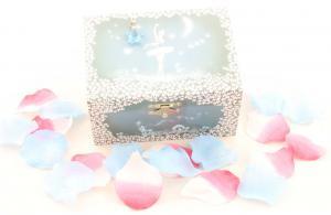 Cutie Bijuterii Muzicală Balerină Albă & Pandativ 18 mm Blue Heart4