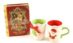 Cadou Crăciun Basilur Tea Book & Set Căni Festive2