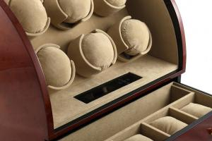 Watch Winder Basel 6 BROWN by Designhütte – Made in Germany2