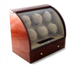Watch Winder Basel 6 BROWN by Designhütte – Made in Germany4