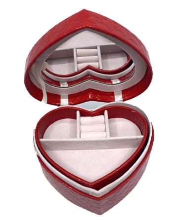 Perfect Lady Gift Set: Cutie Bijuterii Inima Rosie, Bratara Tennis Gold, Cercei Gold Heart [4]